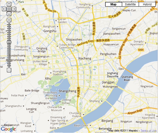Hangzhou Downtown Map