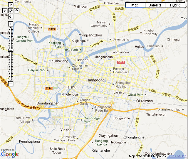 Ningbo Downtown Map