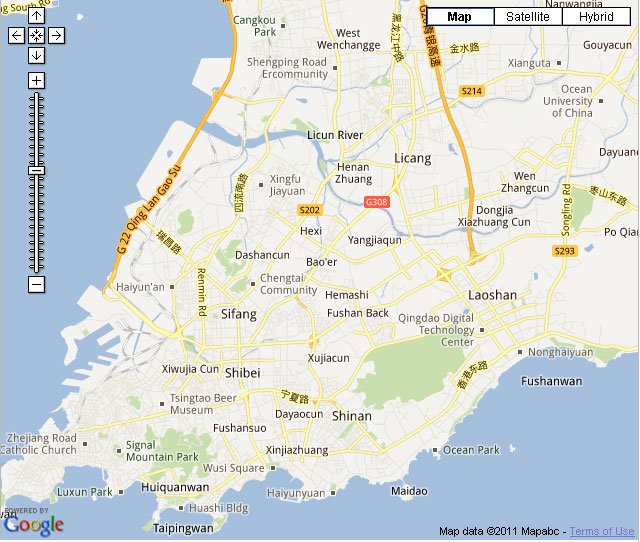 Qingdao Downtown Map