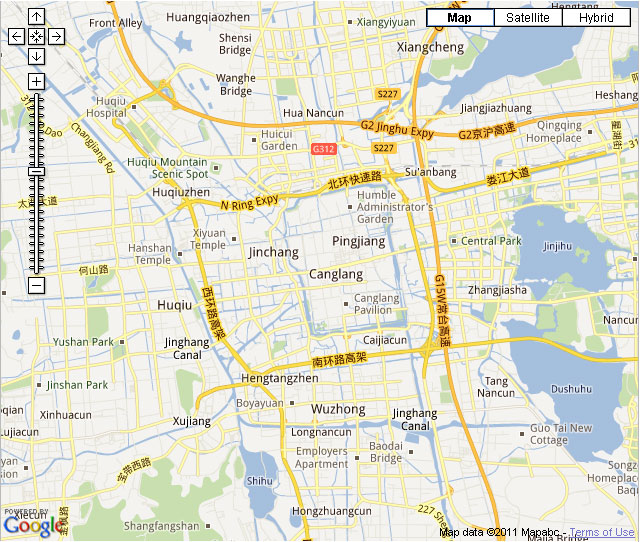 Suzhou Downtown Map