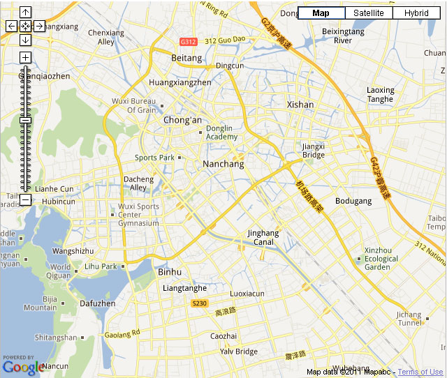 Wuxi Downtown Map
