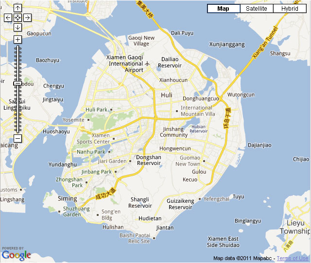 Xiamen Downtown Map