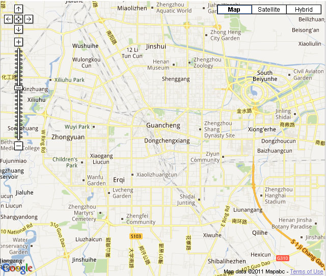 Zhengzhou Downtown Map