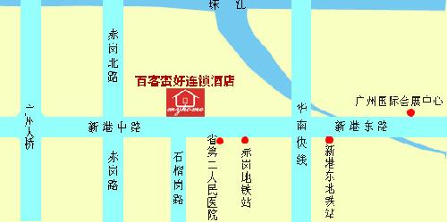Back Myhome Hotel ,Pazhou Branch Map