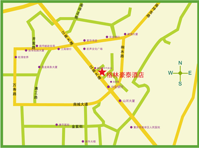 GreenTree Inn Chongqing Southwest Hotel Map