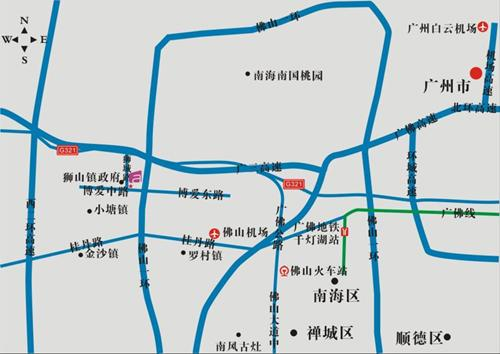 Aloft Nanhai Foshan Hotel Map