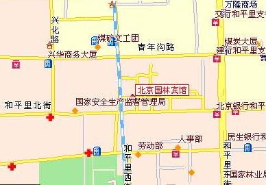 Beijing Guolin Hotel Map