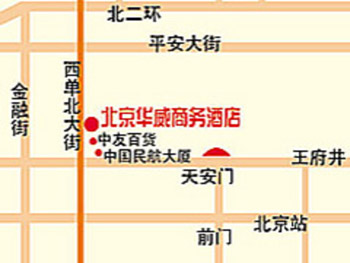 Beijing HWA(Apartment) Hotel Map