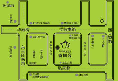 Beijing Somerset Apartment Hotel Map