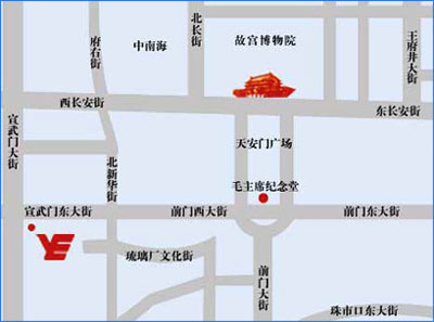Beijing Xuanwumen Business Hotel Map