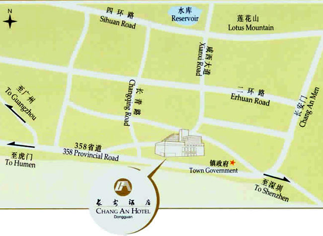 Chang An Hotel Dongguan Map