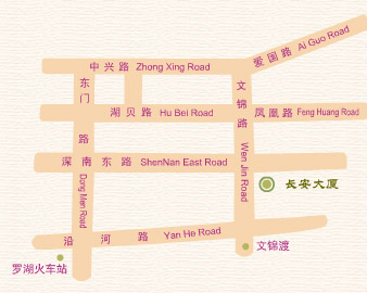 Chang An Hotel, Shenzhen Map