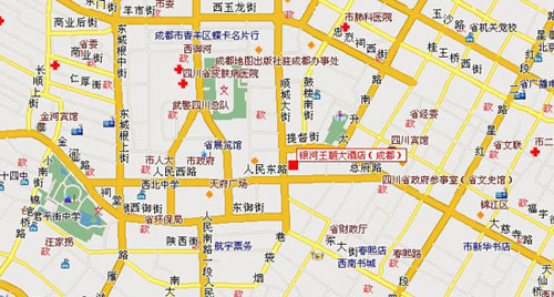 Chengdu Yinhe Dynasty Intercontinental Hotel Map