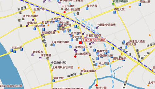 Courtyard Shanghai Pudong Map