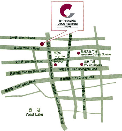 Culture Plaza Hotel, Hangzhou Map
