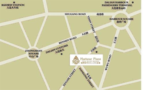 Dalian Harbour Plaza Deluxe Serviced Apartments Map