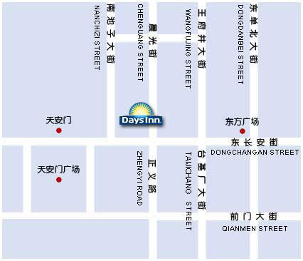 Days Inn Forbidden City Beijing Map
