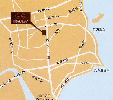 Dihao Holiday Hotel, Zhuhai Map
