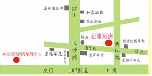 Dongguan Jun Hao Hotel Map