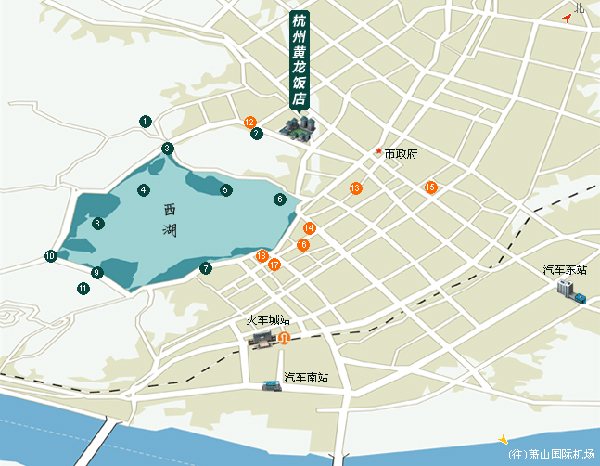 Dragon Hotel, Hangzhou Map