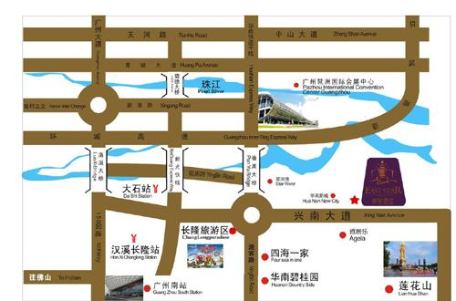 East Star Hotel ,Guangzhou Map