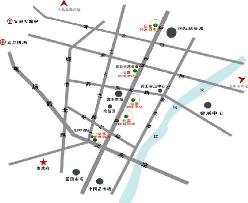 Ejon Impression Hotel ,Yiwu Map