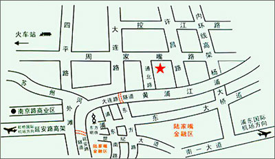 Golden Jade Sunshine Hotel, Shanghai Map