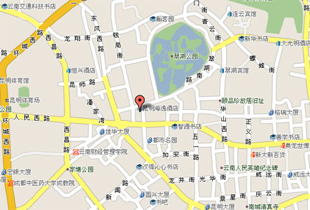 Grand Park Hotel Kunming Map