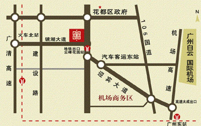 Grand Peak Hotel, Guangzhou Map