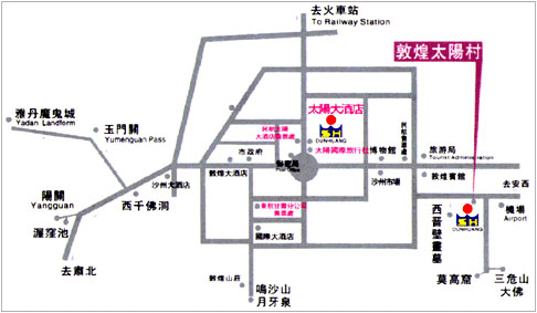 Grand Sun Hotel DunHuang Map