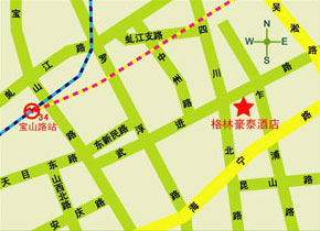 GreenTree Inn Shanghai North Sichuan Road Express Hotel Map