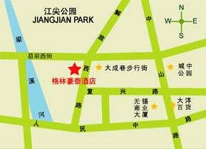 GreenTree Inn Wuxi Jiefang West Road Hotel Map
