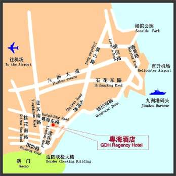 Guangdong Regency Hotel, Zhuhai Map