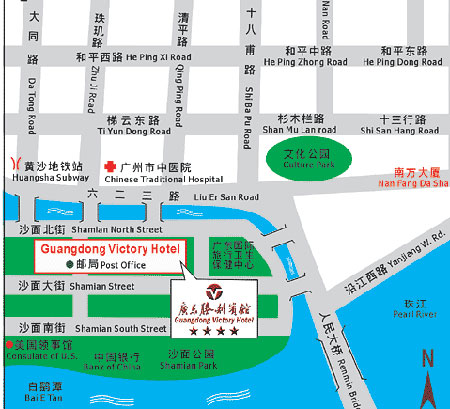 Guangdong Victory Hotel Map