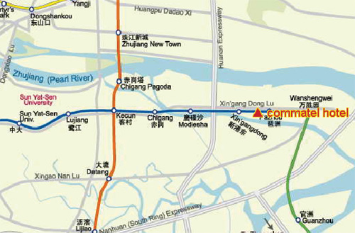 Guangzhou Commatel hotel Map