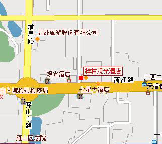 Guilin Plaza Hotel Map