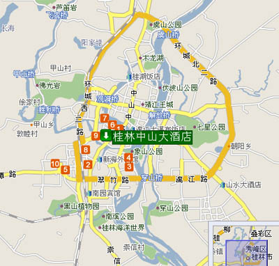 Guilin Zhongshan Hotel Map