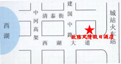 Hangzhou European-style Holiday Hotel Map