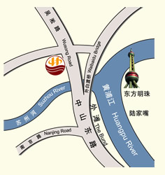 Heng Sheng Peninsula International Hotel Shanghai Map