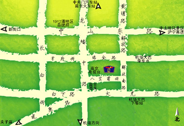 Home inn Nanjing longpan Television station inn Map