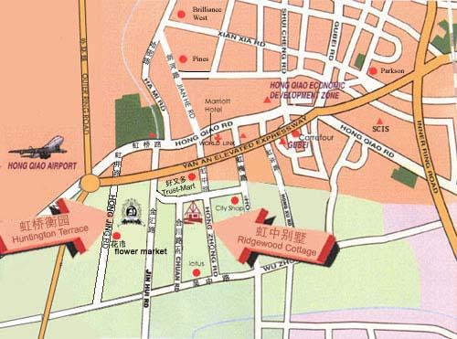 Shanghai Hongtington-Terrace Serviced Apartment Map