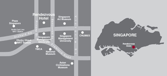 Hotel Rendezvous Singapore Map