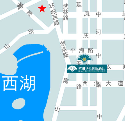 Huachen International Hotel Hangzhou Map