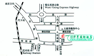 Huating International Hotel Map