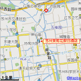 Jasmine Holiday Inn Hotel ,Suzhou Map