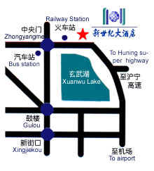 Jiangsu New Century Hotel Map