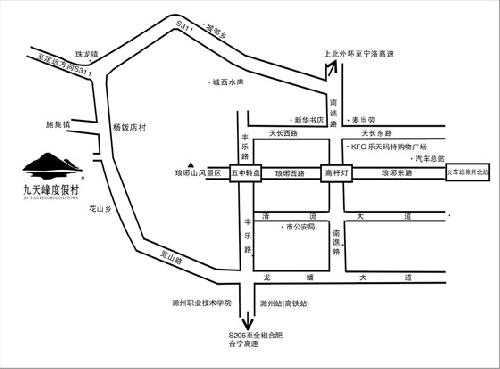 Jiutianfeng Resort ,Chuzhou Map