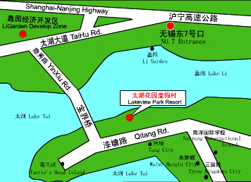 Lakeview Park Resort, Wuxi Map