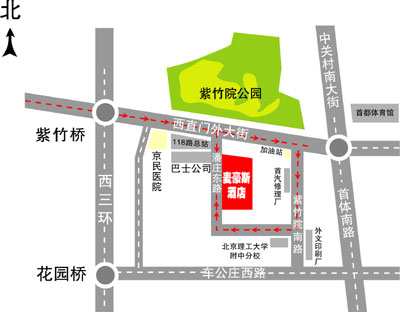 My House Hotel, Beijing Map
