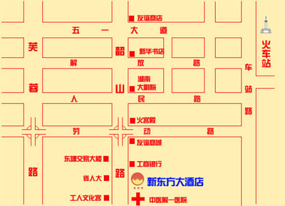 New Oriental Hotel, Changsha Map